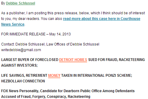 schlussel files suit against heznazi connected racketeering scheme in michigan 17.5.2013