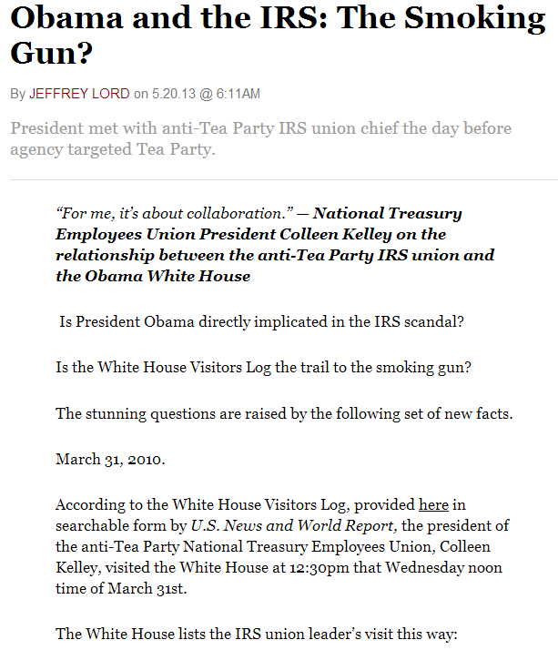 smoking gun on obama-irs-gate 20.5.2013