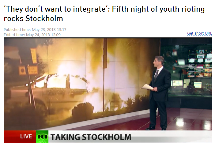 swedish intifada they don't want to intergrate 24.5.2013