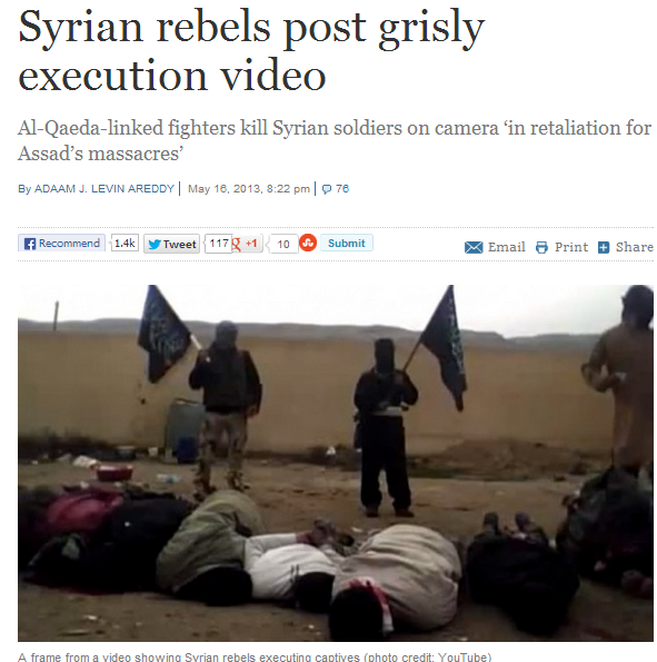 syrian rebels execute more soldiers 17.5.2013