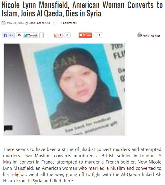 tard convert dies in syria 1.6.2013