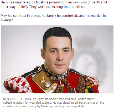 uk soldier murdered in islamic terrorist attack 23.5.2013