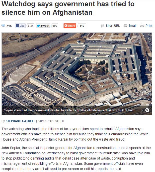 whistleblower on afghanistan 10.5.2013