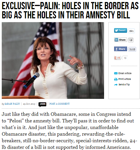 PALIN IMMIGRATION BILL 25.6.2013