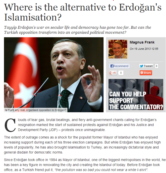 alternative needed to erdogan's akp islamization 19.6.2013