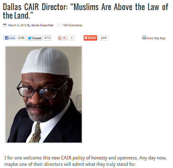 cair director-muslims are above the law 11.6.2013
