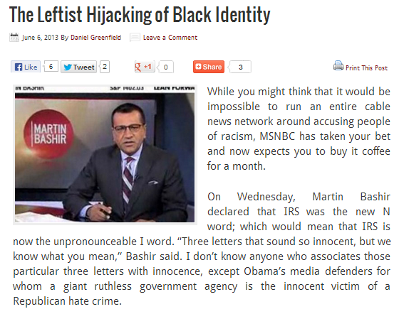 d.greenfield the leftist hijacking of black identity 6.6.2013