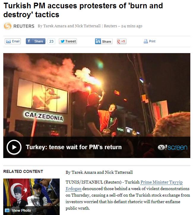 head turk accuses protestors of burn and destroy tactics 6.6.2013