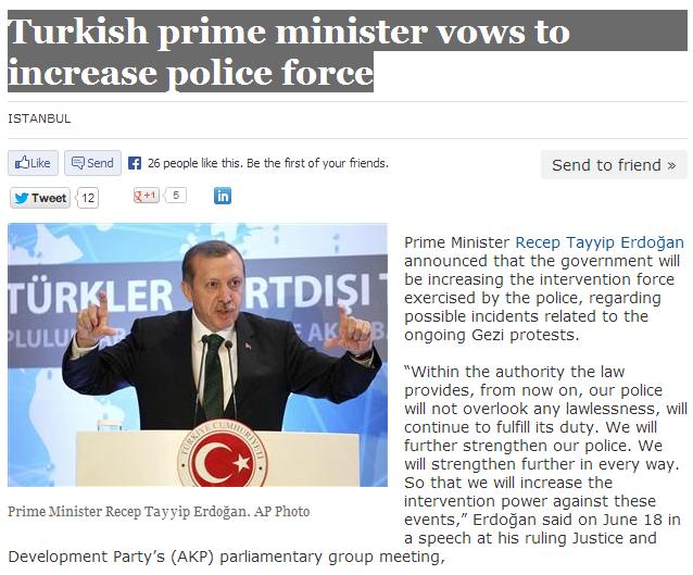 head turk promises use of military 19.6.2013