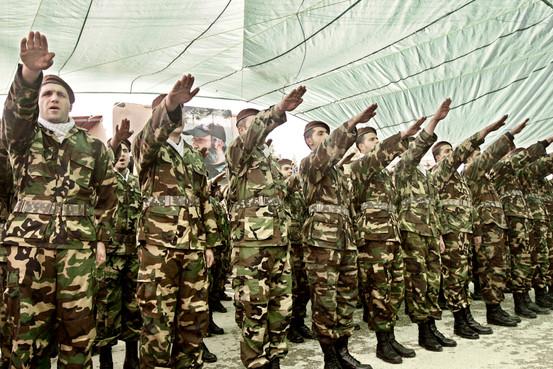 heznazis saluting