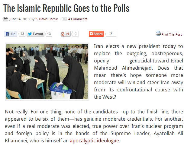 iran at the polls 15.6.2013