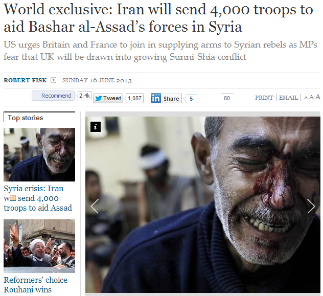iran to send 4000 troops to assad 16.6.2013