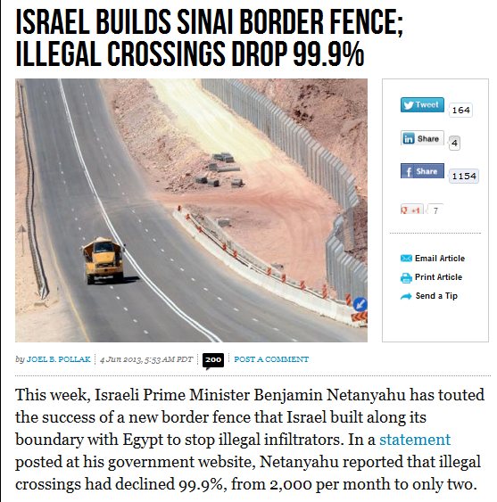 israel border fence see drop in illegal crossing to 99.9 per cent 5.6.2013