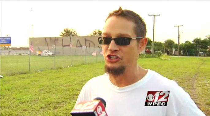 jihad on wall causes argument 16.6.2013