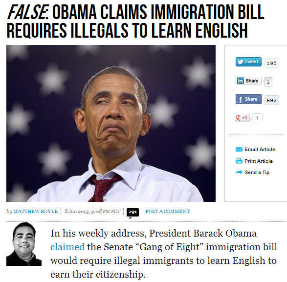 obama lies about immigrants learning english 7.6.2013