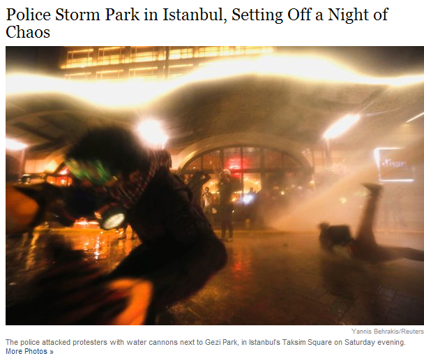 police storm park in istanbul 16.6.2013