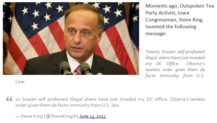 steve king office invaded by illegal aliens 13.6.2013