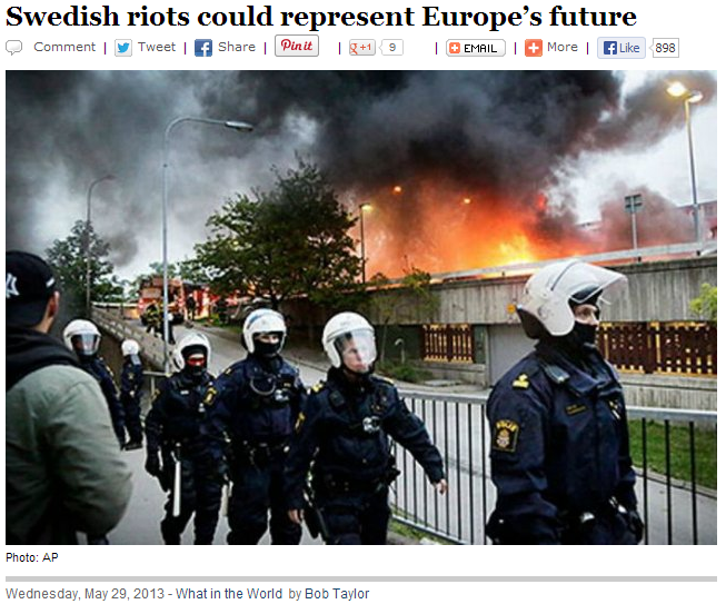 swedish riots could spell future for europe 2.6.2013