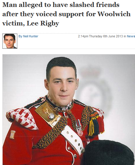 tard slashes friends who voiced sympathy for lee rigby 14.6.2013