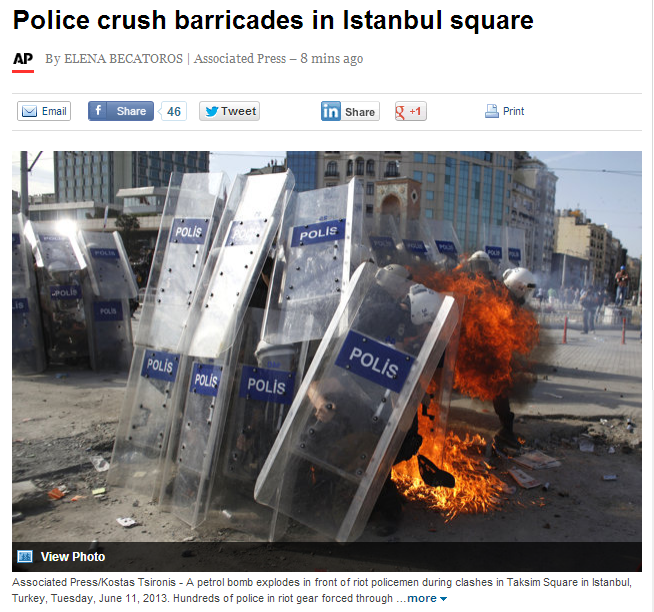 turk police crush barricades 11.6.2013