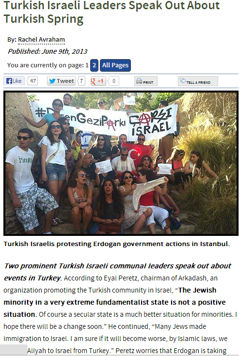 turkish israelis protest against erdogan 11.6.2013