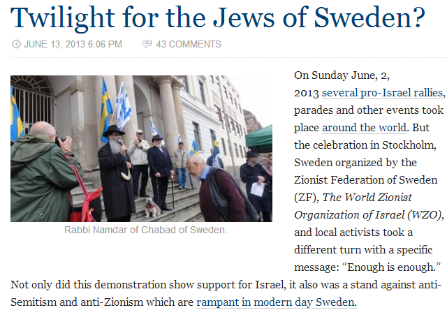 twilight for Jews in sweden 17.6.2013