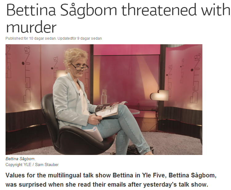 yle swede journo threatened with murder 7.6.2013