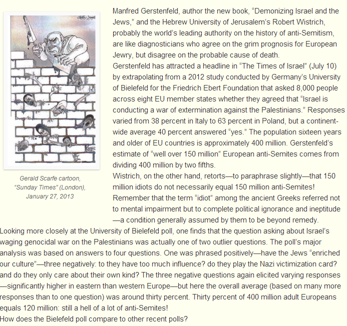150 million antisemites or just idiots 10.7.2013