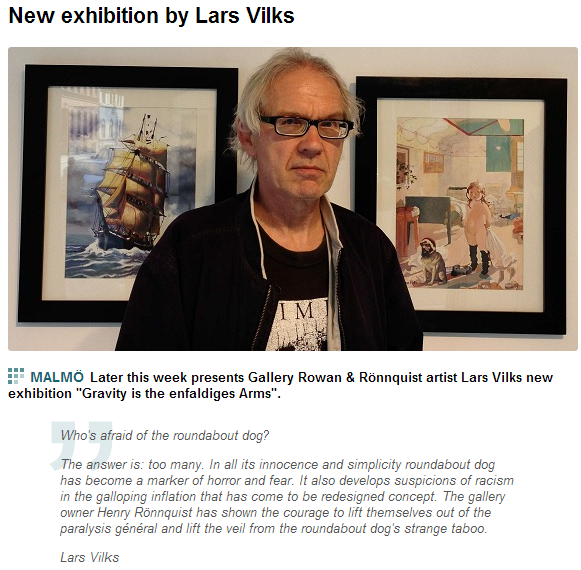 LARS VILKS ROUNDABOUT NEW ART SERIES 2.7.2013