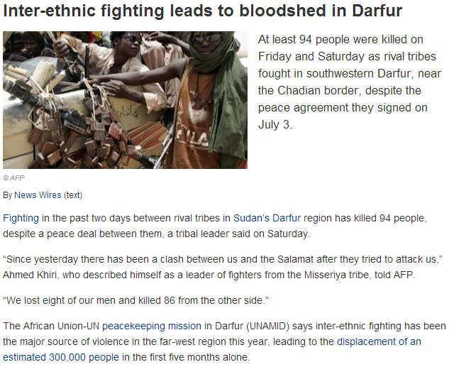 SUDANESE TRIBES FIGHTING 28.7.2013
