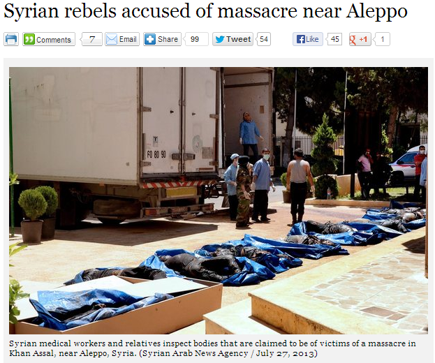 SYRIA rebel ALLEPO MASSACRE 29.7.2013