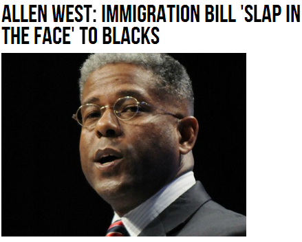 a.west immigration bill slap in blacks face 16.7.2013