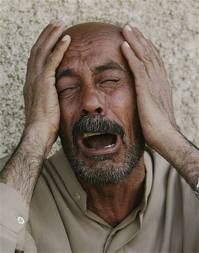 arab man crying