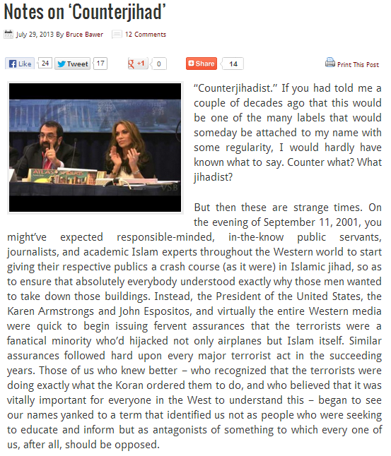 bawer notes on counterjihad 29.7.2013