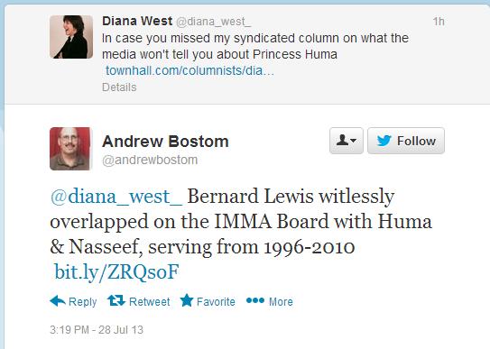 bostom notes bernard lewis useful stooge on imma board 28.7.2013
