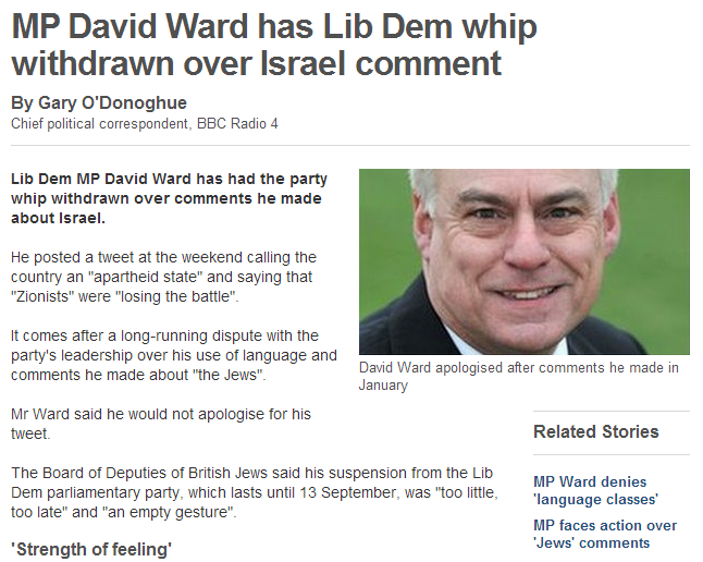 brit lib dem removed temporarily for anti-jew remark 18.7.2013