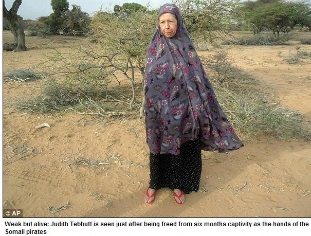 british woman judith tebbutt freed from somali pirate jihadists 31.7.2013