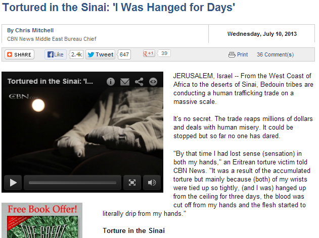 christians tortured in sinai 11.7.2013