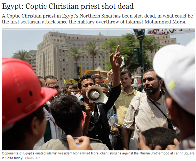coptic priest shot dead in egypt7.7.2013