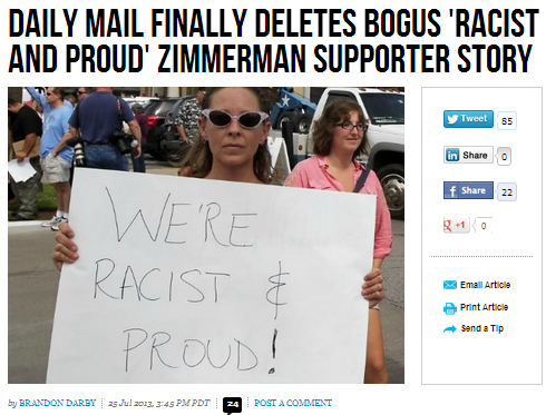 daily mail deletes bogus racist story 26.7.2013