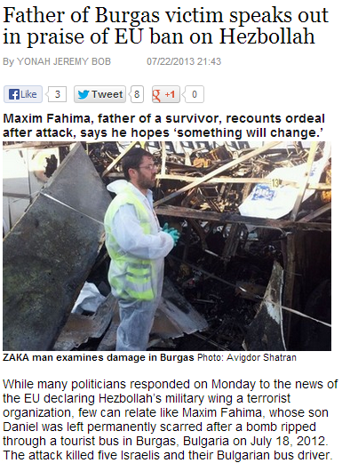 father of burgas bulgaria bombing victim praises eu for heznazis sanction 24.7.2013