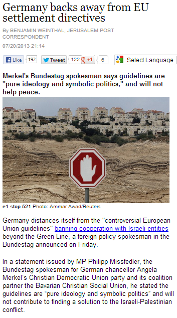 germany backs away from antiisrael eu directives 21.7.2013