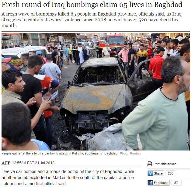 iraq bombings 21.7.2013