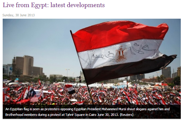 latest developments from egypt 1.7.2013