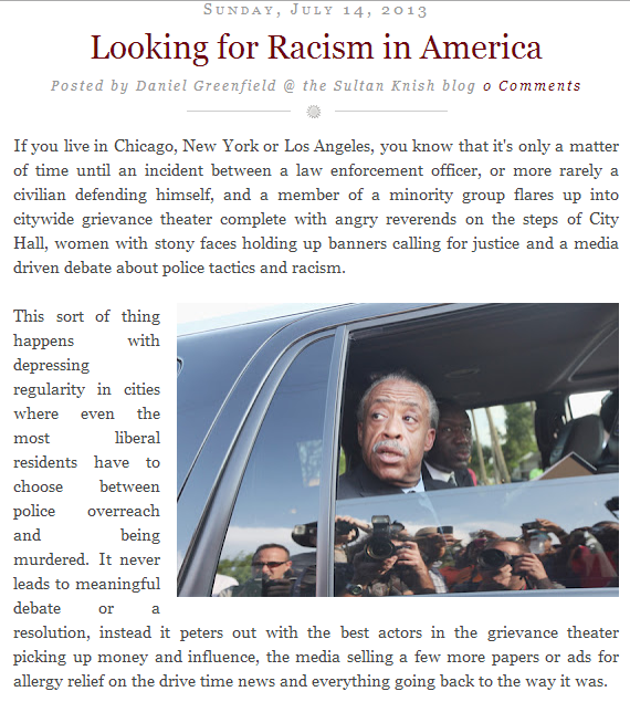 looking for racism in America 14.7.2013