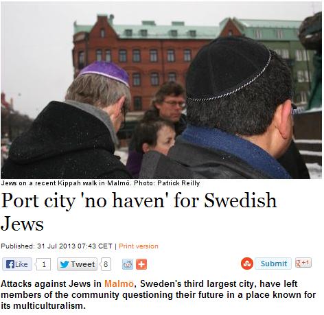 malmö jews question future in city 31.7.2013