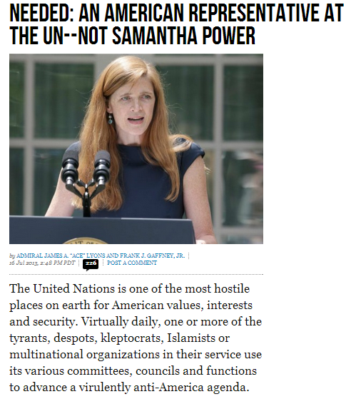 no to samantha power at teh un 17.7.2013
