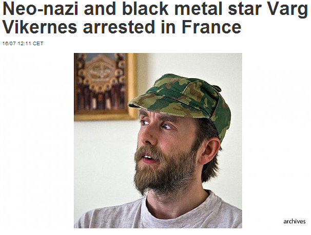 norwegian neo-nazi arrested in france 17.7.2013