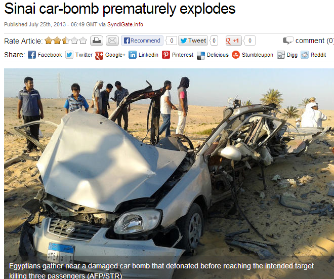 premature detonation 25.7.2013