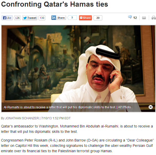 qatars hamas ties 12.7.2013